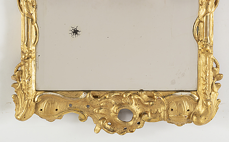 A presumably german rococo mirror.