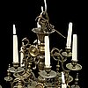 A baroque style 20 th century chandelier.