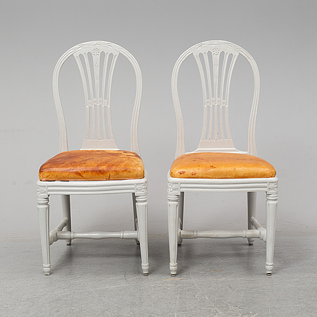 A pair of gustavian chairs by erik Öhrmark (stockholm 1777-1813).