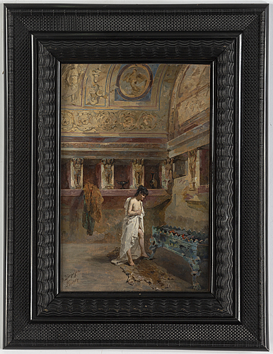 Agnes bÖrjesson, oil on panel, signed.