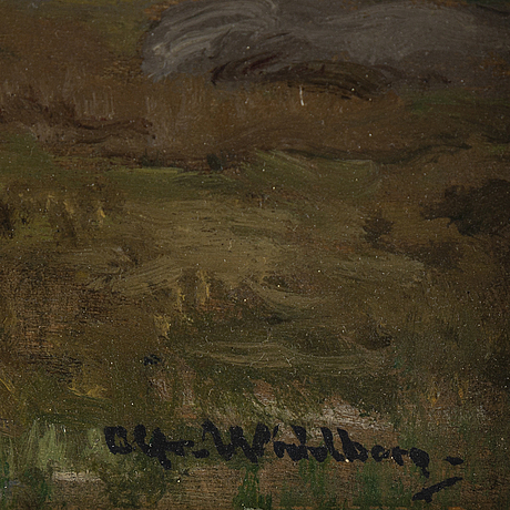 Alfred wahlberg, oil on panel, sosigned and dated 5/10-79.