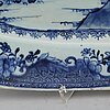 A large blue and white serving dish, qing dynasty, qianlong (1736-95).