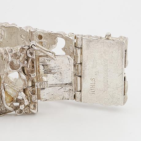 Silver bracelet, kautokeino/juhls.