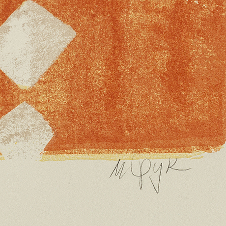 Madeleine pyk, lithograph in colours, signed 4891/5000.