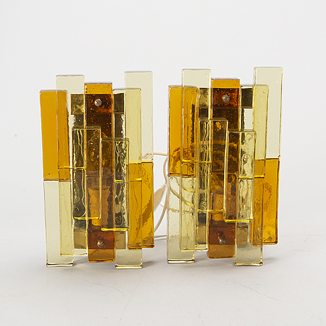 A pair of mid 20th century wall-sconces by svend aage holm-sörensen.