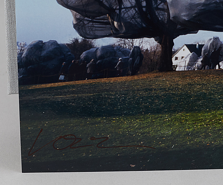 """Book, """"christo and jeanne-claude, wrapped trees, basel 1997–1998"""", 641/1000."""