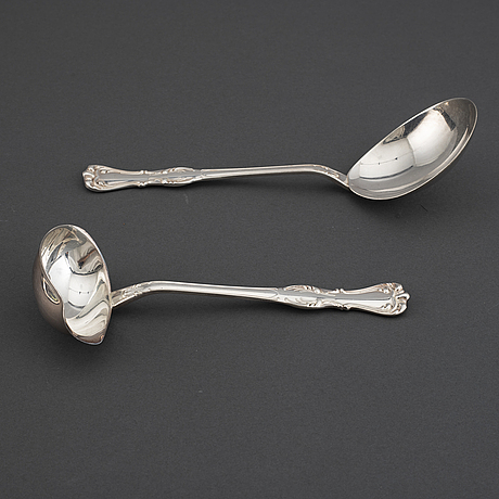 Gab, a 'prins albert' part silver cutlety, stockholm, 1970/80s (53 pieces).