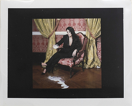 Miles aldridge, two polaroid photographs, unique, signed on the reverse.