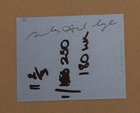 Miles aldridge, unique polaroid photo signed on the reverse.