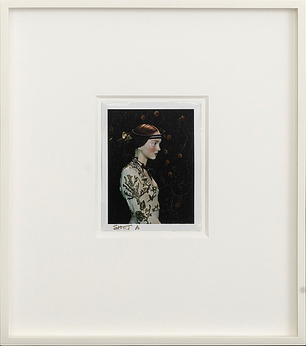 Miles aldridge, polaroid photograph, unique, signed on the reverse.