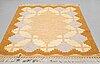 A carpet, flat weave, signed is (ingegerd silow), ca 236 x 167 cm..