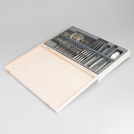 Bertel gardberg, a 24-piece 'carelia' stainless steel cutlery set for hackman, finland.