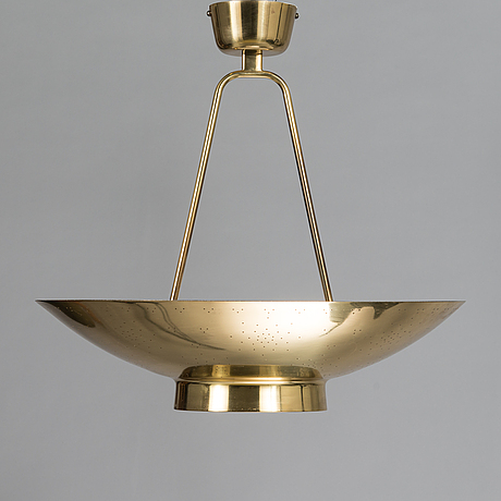 Paavo tynell, a mid 20th century, '9060' pendant light for taito, finland.
