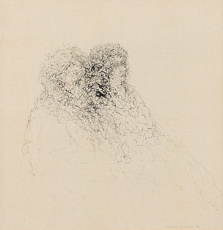 Gunnar pohjola, ink drawing, signed and dated -78.