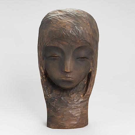 Gunnar uotila, träskulptur, signerad och daterad -71.