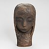Gunnar uotila, sculpture, wood, signed and dated -71.