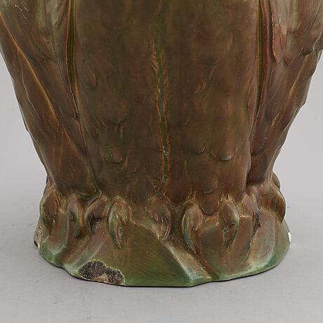 Herman neujd, attributed to. a ceramic table light, gustafsberg, 1902.