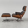 Charles & ray eames, a lounge chair and ottoman, vitra, 2010's.