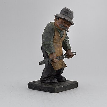 HERMAN ROSELL, sculpture, painted wood, signed and dated 1933.