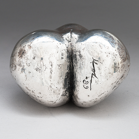 Pertti kolehmainen, a silver sculpture, signed 1989, numbered 4/6.