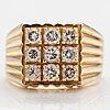 An 18k gold ring with diamonds ca. 1.53 ct in total.