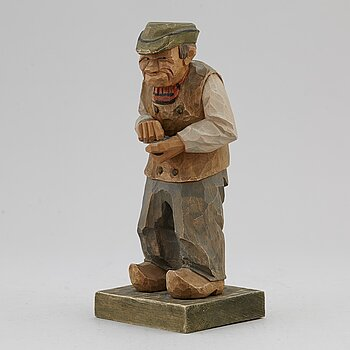 HERMAN ROSELL, sculpture, painted wood, signed and dated 1930.
