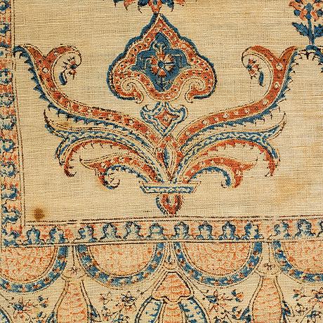 A textile, a semi-antique/antique kalamkar (ghalamkar), esfahan, ca 116,5 x 87 cm.