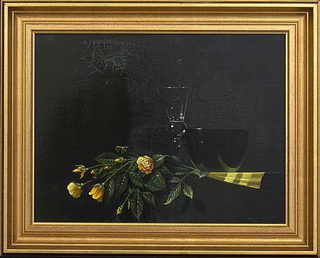 Antti lampisuo, olja på pannå, signerad.