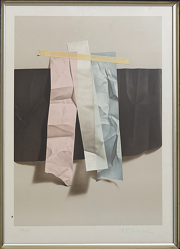 YrjÖ edelmann, a lithograph in color, signed and numbered 173/175.