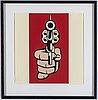 Roy lichtenstein, after, silkscreen, 1968.
