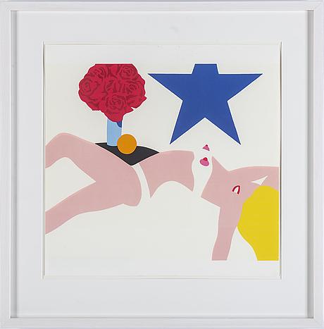 Tom wesselman, after, silkscreen, 1968.