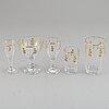 A kosta 'lagergren' glass service. (65 pieces).