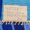 "Margareta wilk, ""kattegatt"", a wall hanging, ca 233 x 126-127 cm, signed and dated m. wilk 1973."