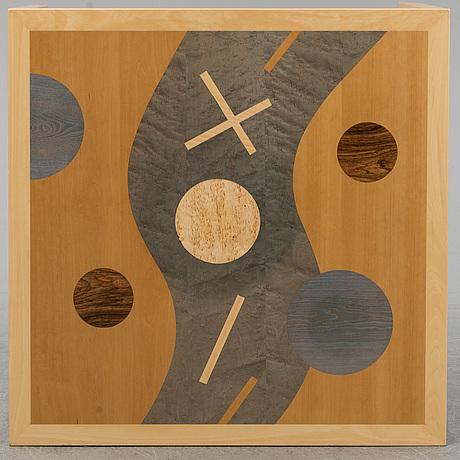 "Karl gustaf nilsson, soffbord, ""der fluss"", gärsnäs, 1993."