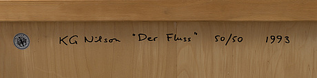 A 'der fluss' coffee table by karl gustaf nilsson, gärsnäs.