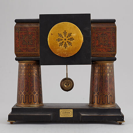 A german art nouveau table clock, circa 1900.