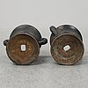 A 19th  century pair of cast iron flower pots.