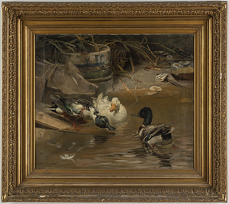 Karl uchermann, oil on canvas, signed and dated paris 1880.