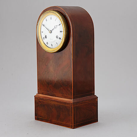 A french table clock, mid 19th century. marked perrelet, houloger mecanicien du roi.
