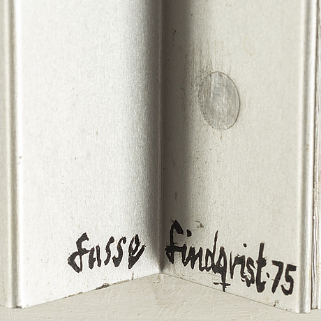 Lasse lindqvist, blandteknik, signerad lasse lindqvist och daterad -75.