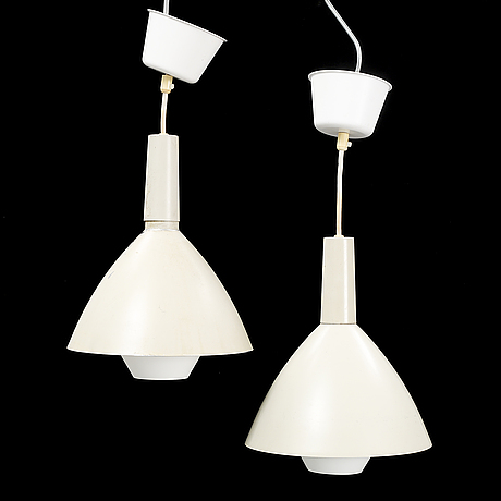 A pair of asea ceiling lamps.