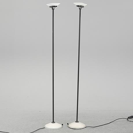 Perry king, santiago miranda & gianluigi arnald, a pair of 'jill' floor lights, arteluce, italy.