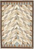 A swedish 1960's - 1970's flat woven carpet, signed up, (ulla parkdahl), around 203 x 141 cm.
