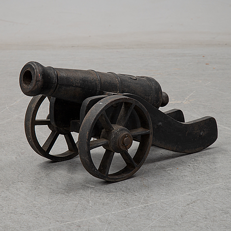 Two swedish cast iron cannons, stafsjö bruk, second half of the 20th century.