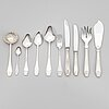 A 31-piece set of 'suomi' silver cutlery, 12 with a special mark, and five similar dinner spoons, finland 1912-91.