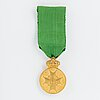 The medal of the vasa, gold, in case.