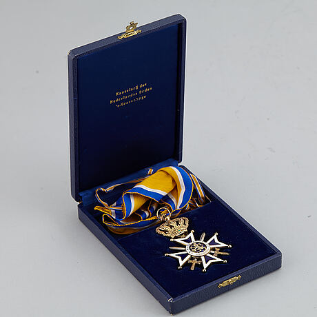 Order of the oranje-nassau, the netherlands, a commanders cross, military division, in case.