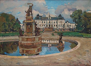 ALFRED HEDLUND, oil on canvas, signed and dated 1917.