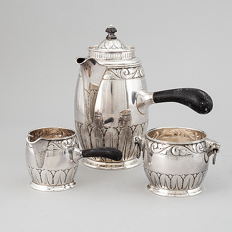 A 20th century silver coffee-set, swedish import marks.