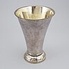 A parcel gilt silver beaker, mark of erik ernander, uppsala 1791.
